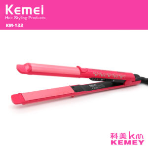 Kemei133 Titanium Plates Flat Iron Straightening Irons Styling Tools Professional Hair Straightener