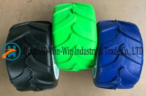 Colorful Flat-Free PU Wheel for Hand Trucks (7*4) pictures & photos