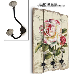 Wholesale China Factory Bathroom Antique Cast Wooden Decorative Wall Hooks pictures & photos
