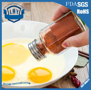 Stainless Steel Cover Glass Condiment Jar of Kitchen Condiment Bottles pictures & photos