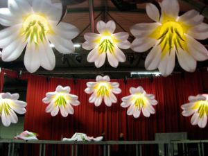 Outdoor Party Decoration Inflatable Lily Flower with LED Light
