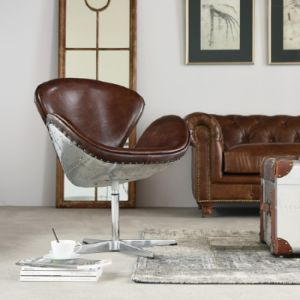 American Retro Metal Revolving Leisure Swan Chair pictures & photos