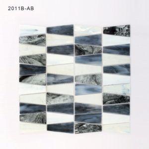 Florida Design Black and White Bathroom Backsplash Glass Mosaic Tile pictures & photos