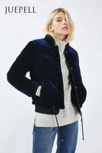 New Arrival Velvet Puffer Jacket pictures & photos