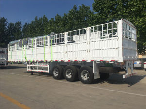 3 Axles Drop-Side Fence Cargo Trailer pictures & photos