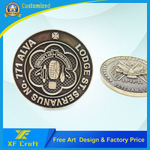 Custom Embossed Logo Forum Souvenir Metal Commemorative Coin/Badge (XF-CO17) pictures & photos