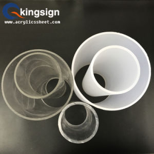 Round Shape Cast Milky White Acrylic Tube pictures & photos