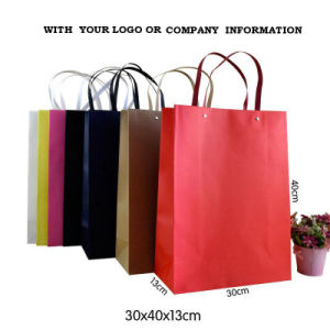 Custom Printed Gift/Shopping/Packaging Krfat/Art Paper Bag with Twisted Handle pictures & photos