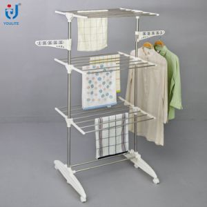 Foldable Garment Rack with Wheels pictures & photos
