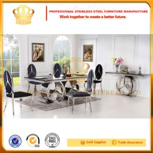 Modern Furniture Hot Selling Glass Dining Table Set Sj916 pictures & photos