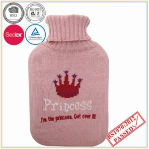 Hot Water Bottle with Crown Design Knitted Cover pictures & photos