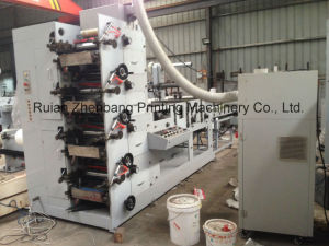 Flexo Printing Machine with Sheeting and Die Cutting (ZB-4 COLOR) pictures & photos