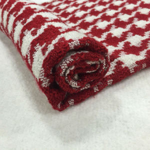 Red Houndstooth Check Wool Fabric in Ready pictures & photos