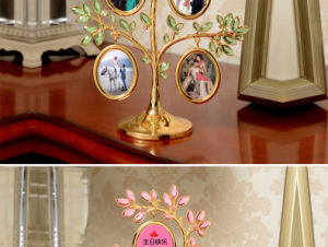 Love Story Double Heart Ceramic Photo Frame pictures & photos