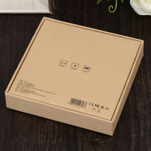 Customized Lovely Paper Gift Box for Packaging Silver Hot Stamping UV Logo pictures & photos