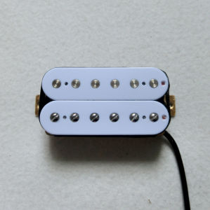 Ceramic Magnent White Humbucker Guitar Pickup with 6 Adjustable Pole pictures & photos