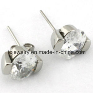 Round Clear Cubic Zirconia Stud Earring pictures & photos
