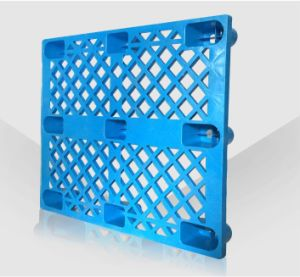 EU Standards Plastic Pallet 1000*800*140mm HDPE Grid Nine Feet Plastic Pallet for Warehouse Storage Products pictures & photos