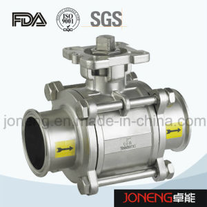 Stainless Steel Sanitary Pneumatic Three Way Ball Valve with Limit Switch (JN-BLV2002) pictures & photos