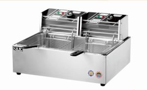 Hot Sale Stainless Steel 1-Tank 2-Basket Electric Fryer pictures & photos