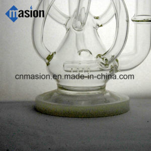 Glass Water Pipe Recycler Pipes Glass Smoking Pipe (BY009) pictures & photos