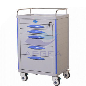 AG-Mt006 Hospital ABS Material Nurse Utility Movable Medicine Trolley Cart pictures & photos