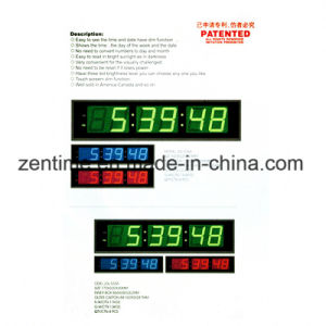 Aluminum Alloy Frame LED Wall Clock in Large Size pictures & photos