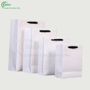 White Paper Shopping Bag (KG-PB045) pictures & photos