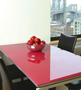 Painted Glass Table Top with AS/NZS2208: 1996, BS6206, En12150 Certificate pictures & photos