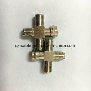 RF Connector, F Male to Three F Female Connector pictures & photos