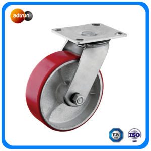 TPU Covered Cast Iron Core Casters pictures & photos