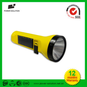 Rechargeable LED Flashlight with Solar Panel pictures & photos
