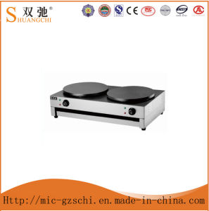 Commercial Stainless Steel Electric Crepe Pancake Maker Double Head pictures & photos