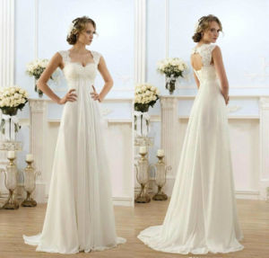 Chiffon Wedding Dresses Maternity Bridal Evening Dress W5173 pictures & photos
