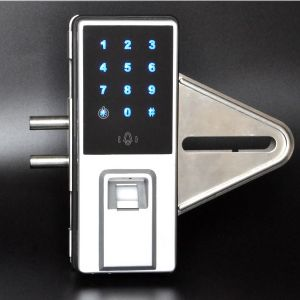 Fingerprint Glass Door Lock System with Multiple Unlock Way pictures & photos
