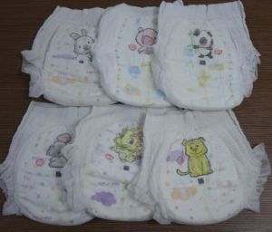 Elastic Waist Band Disposible Baby Diaper Pant pictures & photos