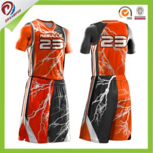 Latest Reversible Lightning Basketball Jersey Your Own Logo Design 2016 pictures & photos