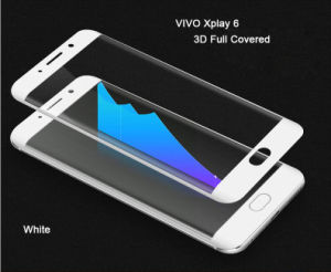 3D Full Cover Hot Bending Electroplating Tempered Glass Protective Screen Guard for Vivo Xplay 6 pictures & photos