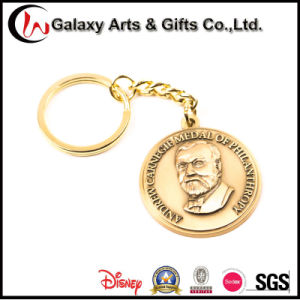 Custom Printed Metal Keychains/Key Chain with Rubber Logo pictures & photos