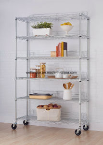 NSF Approval 6 Tiers Restaurant Kitchen Shelving Rack with Shelf Ledges pictures & photos