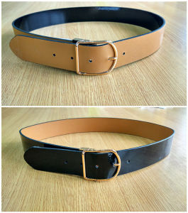 Fashion Women′s PU Belt with Reversible Buckle