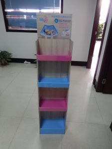 Retail Cardboard Floor Display Stand, Store Pop Paper Display Stand pictures & photos