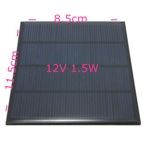 115X85mm Polycrystalline Silicon 12V 1.5W Epoxy Solar Cell pictures & photos
