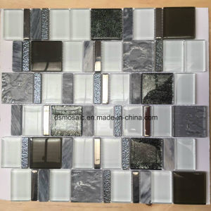 European Style Black and White Glass and Marble Mosaic Tile for Wall pictures & photos