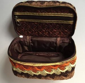 Cotton Nylon Woven Fashion Hand Cosmetic Bag pictures & photos