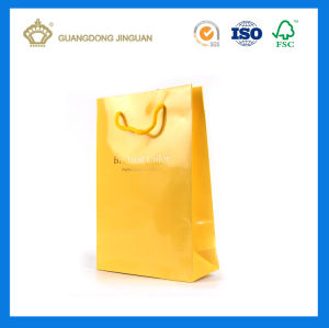 Low Price Glossy Laminated Handling Paper Shopping Bag (with logo hot stamped) pictures & photos
