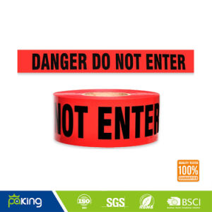 White and Red PVC Caution Tape for Danger Warning pictures & photos