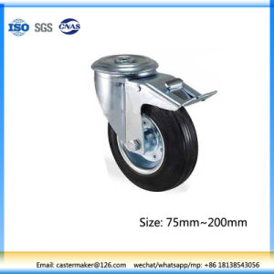 125mm Rubber Trolley Wheel with Brake pictures & photos