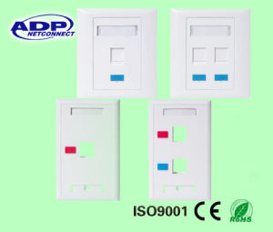 RJ45 Network Faceplate pictures & photos