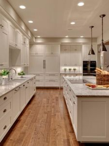 White Real Wood Shaker Kitchen Cupboard pictures & photos